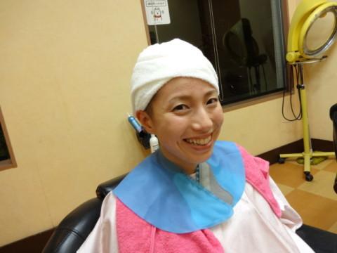 女性丸刈り女性坊主ラインアート (23)